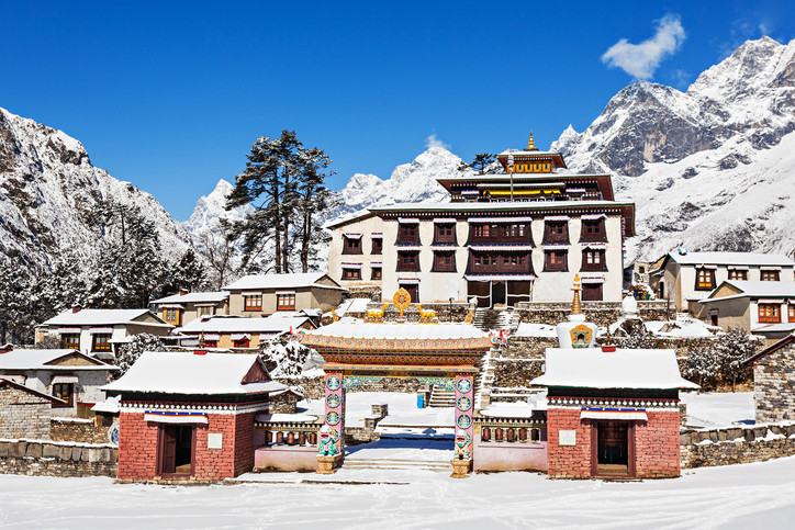 Le monastère de Tengboche sur la route du trek du camp de base de l'Everest