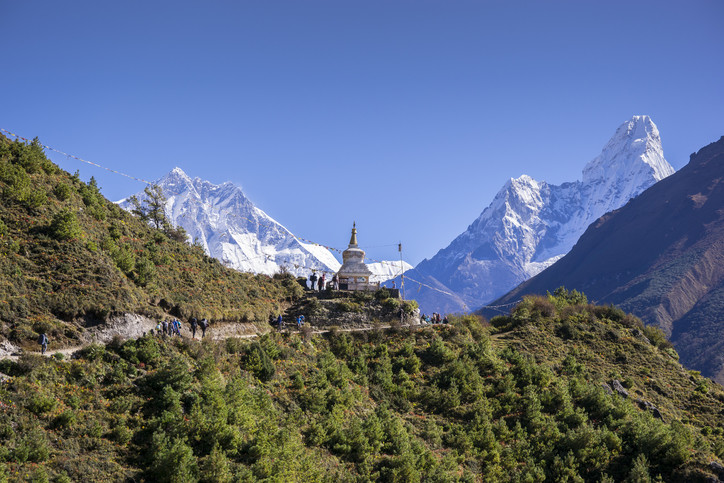 Le Lhotse et l'Ama Dablam sur le trek du camp de base de l'Everest